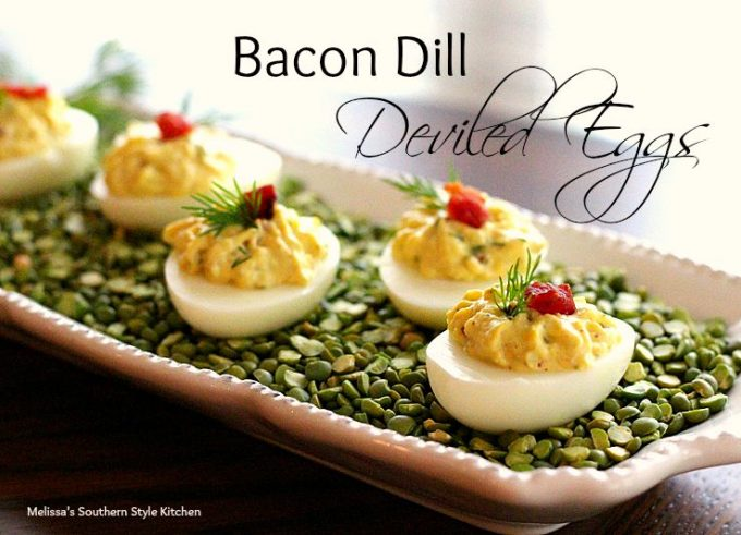 Bacon Dill Deviled Eggs