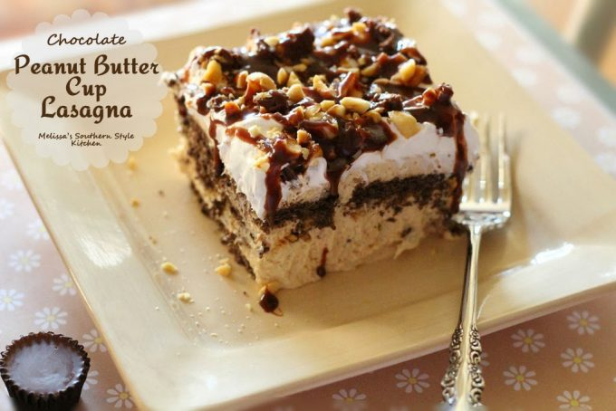 Chocolate Peanut Butter Cup Lasagna - melissassouthernstylekitchen.com