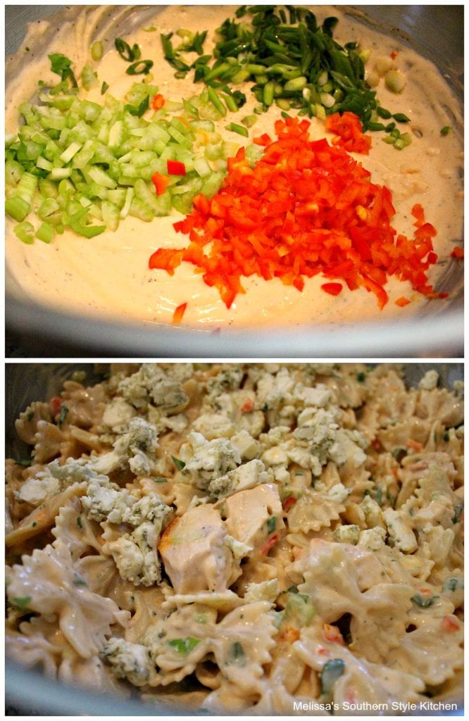 step-by-step images how to prepare pasta salad
