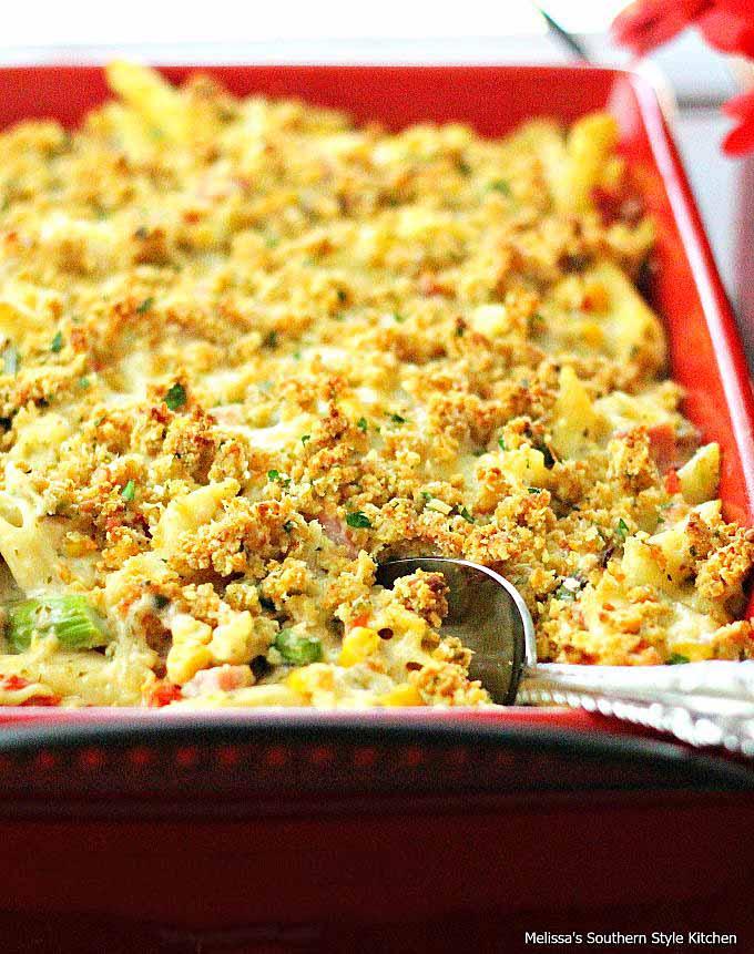 Alfredo-Penne-with-Ham-Asparagus-Corn