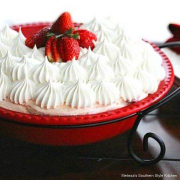 Black Bottomed Strawberry Cheesecake Pie recipe
