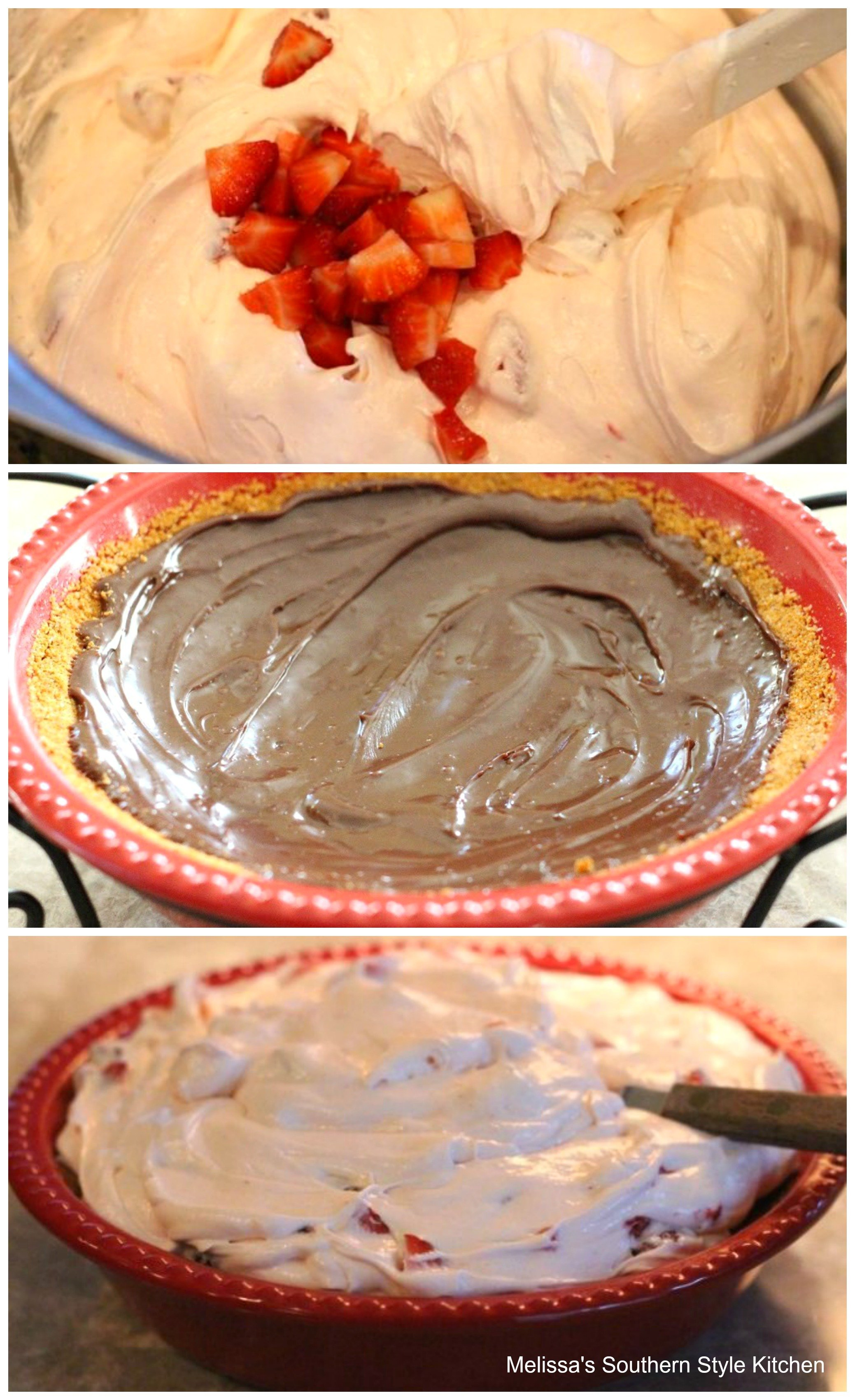 step-by-step images how to prepare strawberry pie