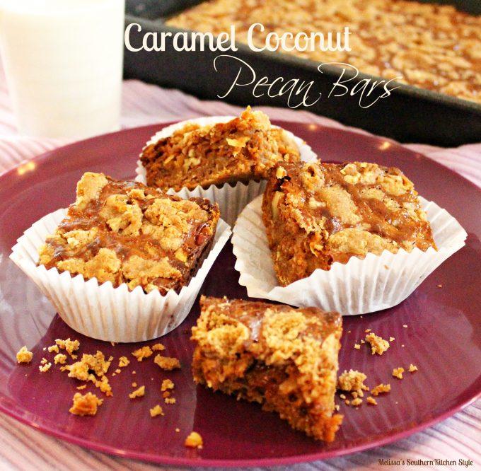 Caramel Coconut Pecan Bars