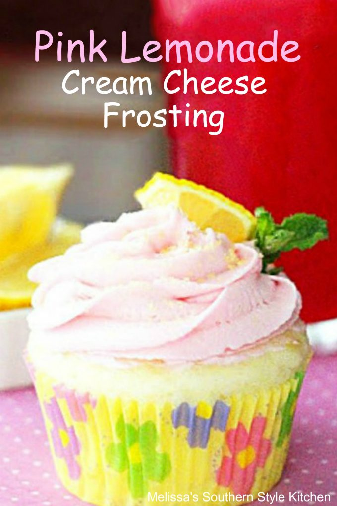 Cupcake with Pink Lemonade Cream Cheese Frosting
