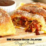 Barbecue Chicken Bacon And Jalapeno Pizza Bread