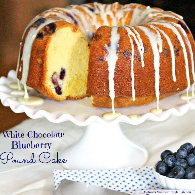 White Chocolate Blueberry Pound Cake
