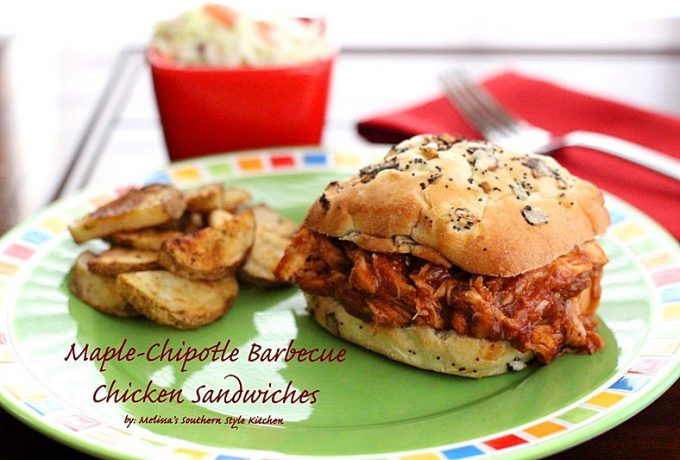 Maple-Chipotle Barbecue Chicken Sandwiches