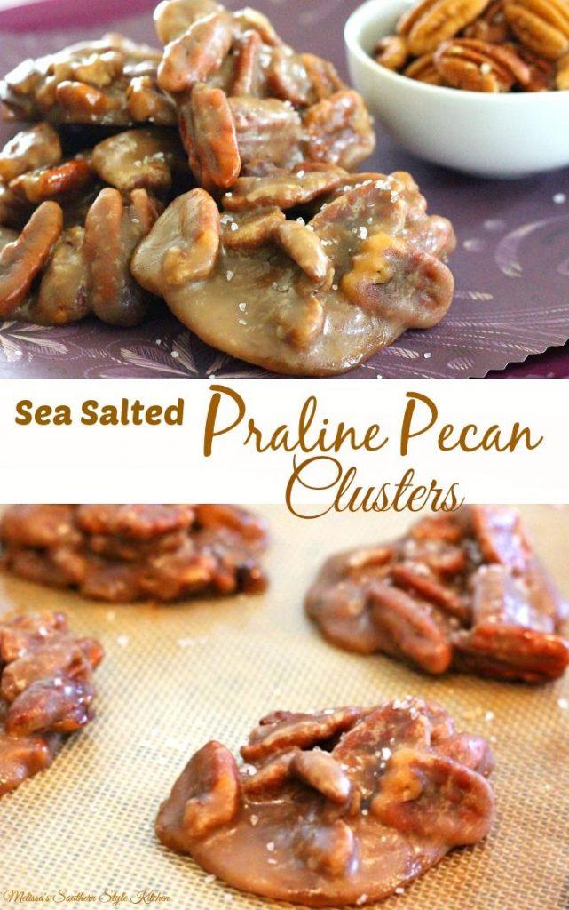 Sea Salted Praline Pecan Clusters