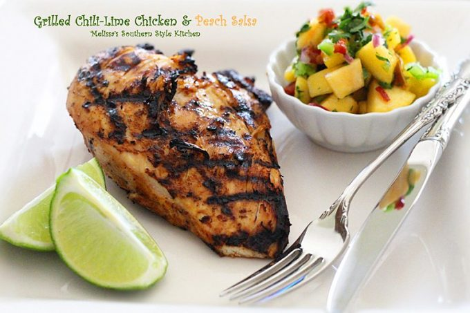 ... flavorful and the fresh peach salsa on the side is simply perfection