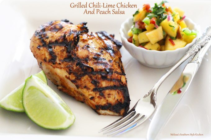 Grilled Chili-Lime Chicken And Peach Salsa ...
