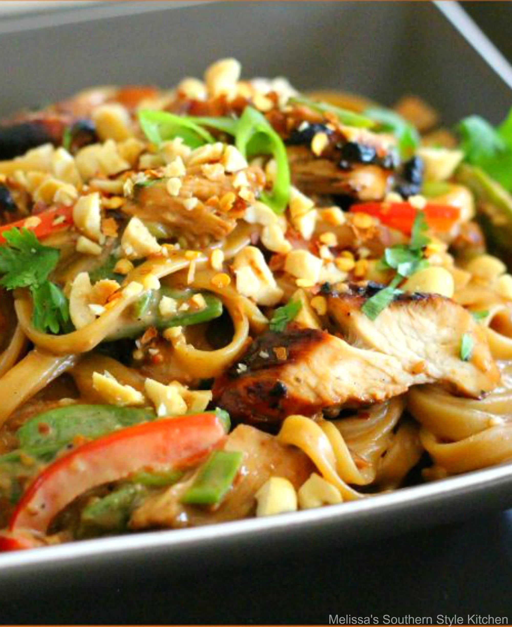 Asian Sesame Chicken Pasta Melissassouthernstylekitchen Com