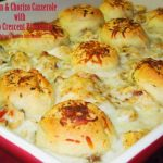 Chicken And Chorizo Casserole With Pesto Crescent Pinwheels