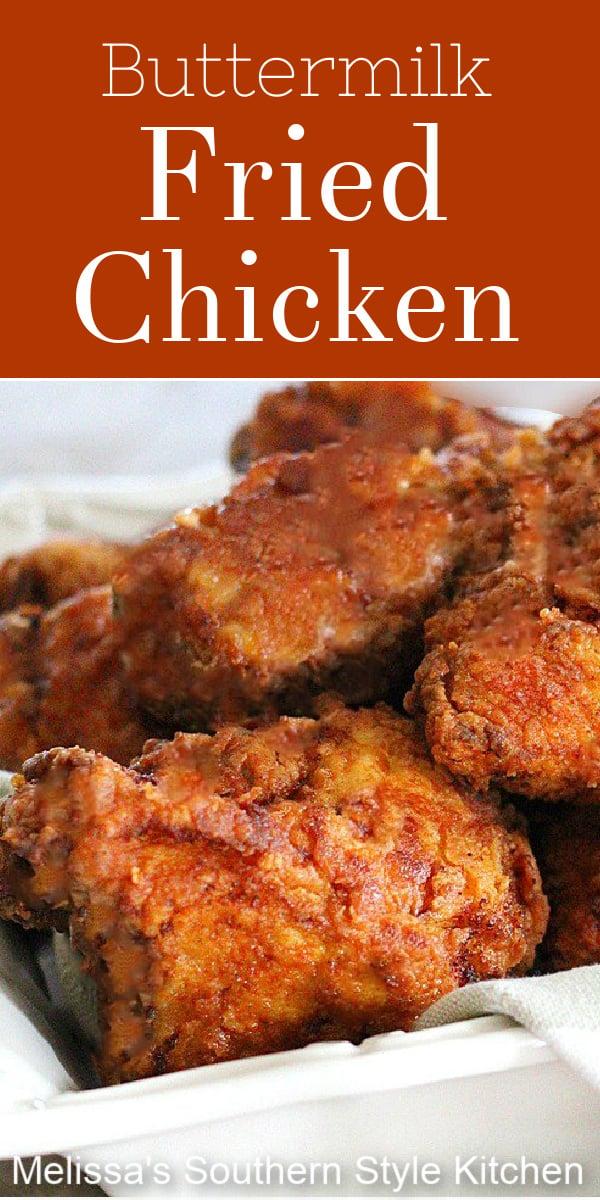 Enjoy this finger licking delicious buttermilk brined fried chicken for dinner #friedchicken #friendchickenrecipes #southernfriedchicken #buttermilkfriedchicken #chickenrecipes #dinner #dinnerideas #southernfood #southernrecipes #easyrecipes