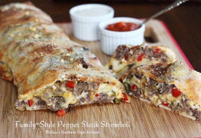 Family Style Pepper Steak Stromboli
