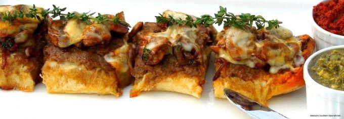 Open Faced Mushroom And Onion Steakburgers