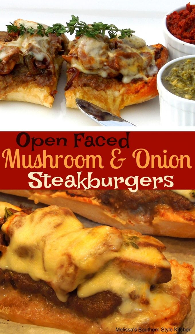 Open Faced Mushroom And Onion Steakburgers