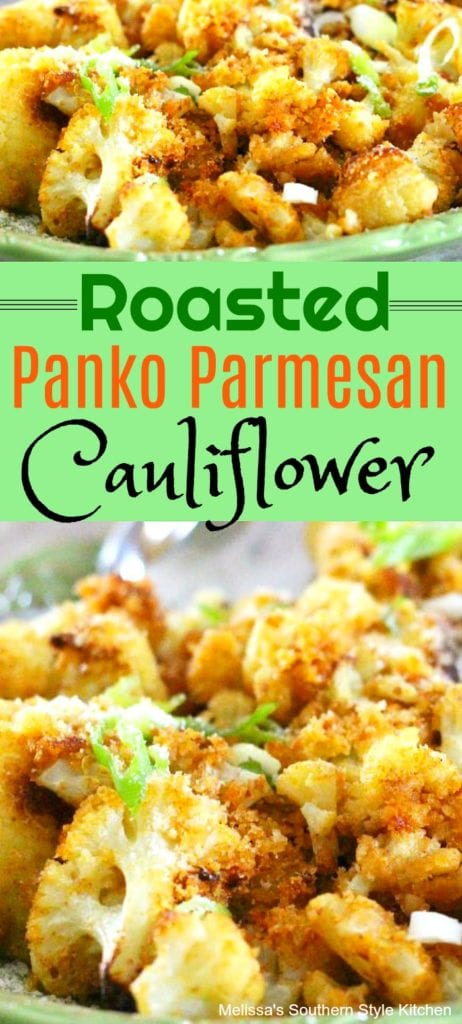 Oven Roasted Panko-Parmesan Cauliflower