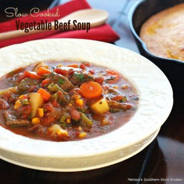 how to make Vegetable Beef Soup in a slow cooker