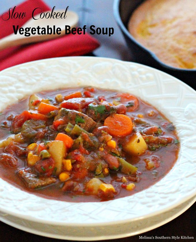 Slow Cooked Vegetable Beef Soup