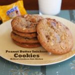 plated Peanut Butter Snickers Cookies