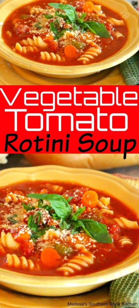 Vegetable Tomato Rotini Soup
