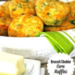 Broccoli Cheddar Corn Muffins