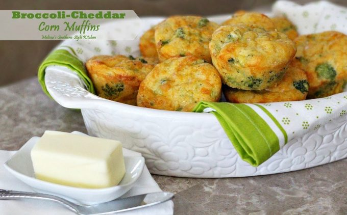 Broccoli Cheddar Corn Muffins – These broccoli-cheddar corn muffins ...