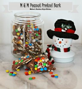 Today on Parade - M & M Peanut Pretzel Bark