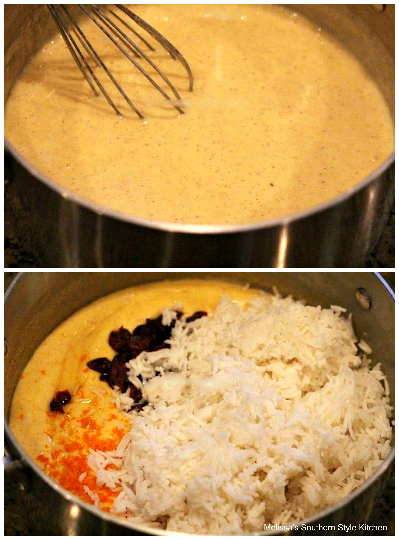 Holiday Eggnog Rice Pudding