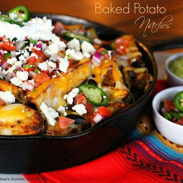 Baked Potato Nachos Recipe