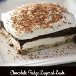 Chocolate Fudge Layered Lush
