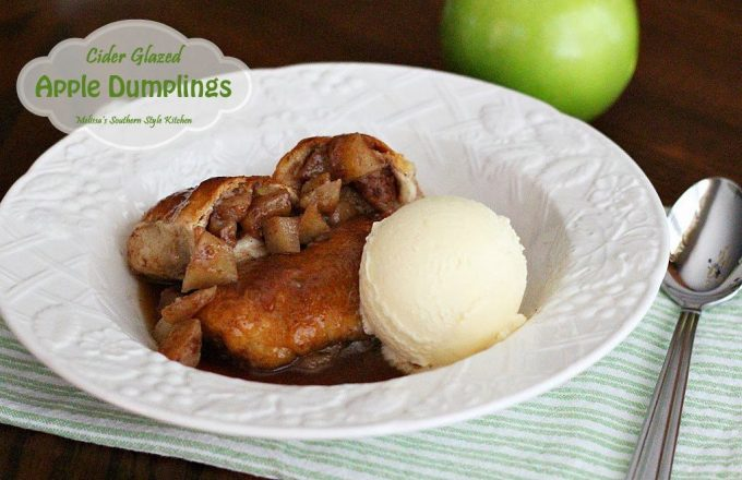 Cider Glazed Apple Dumplings - melissassouthernstylekitchen.com