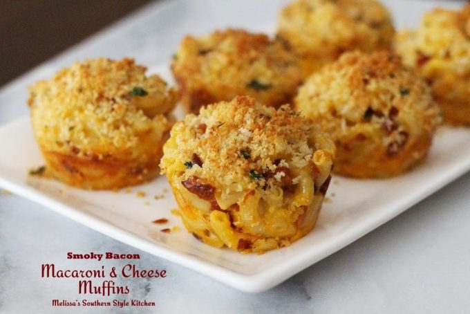 Smoky Bacon Macaroni And Cheese Muffins - melissassouthernstylekitchen ...