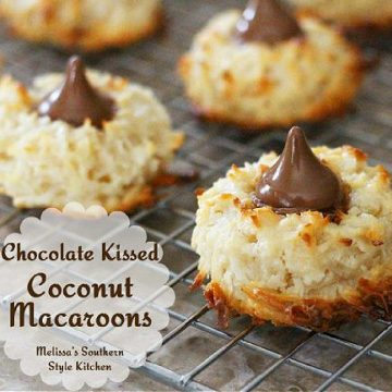 Chocolate Kissed Coconut Macaroons recipe