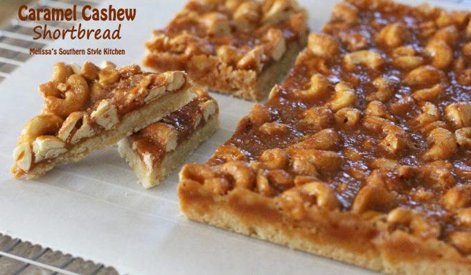 Salted Cashew Caramel Bars Recipe — Dishmaps