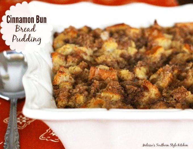Cinnamon Bun Bread Pudding - melissassouthernstylekitchen.com