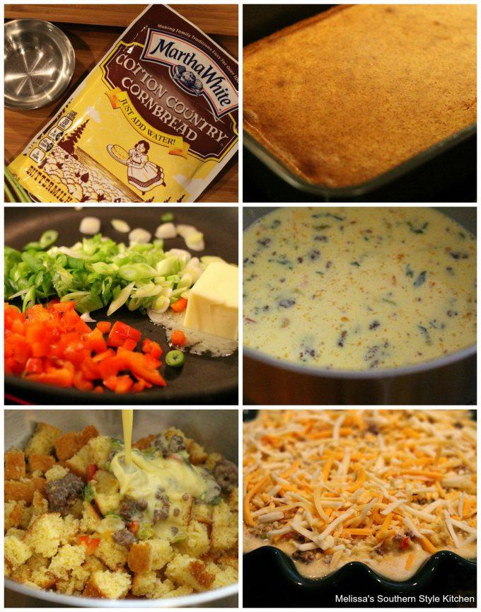 ingredients to make Cornbread Quiche