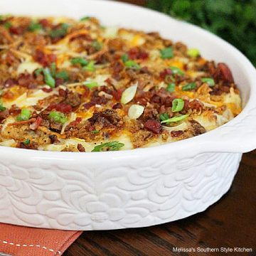baked Fully Loaded Smashed Cauliflower casserole