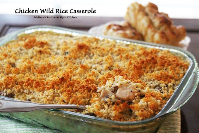 Chicken Wild Rice Casserole - melissassouthernstylekitchen.com