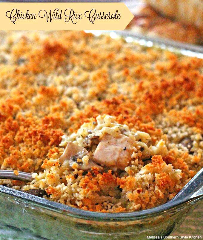 Baked Chicken Wild Rice Casserole