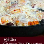 Skillet Cherry Pie Biscuits