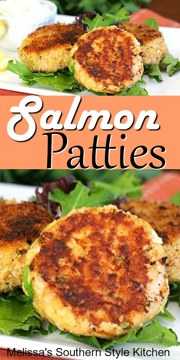 These crisp and golden Salmon Patties are delicious and won't break the bank #salmonpatties #salmon #dinnerideas #seafood #seafoodrecipes #easyrecipes #southernfood #southernrecipes