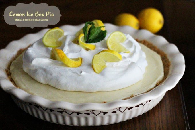 Lemon Ice Box Pie - melissassouthernstylekitchen.com