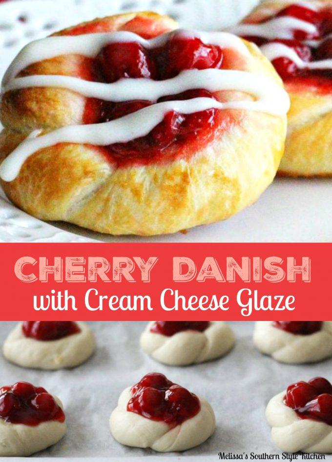 Cherry Danish With Cream Cheese Glaze
