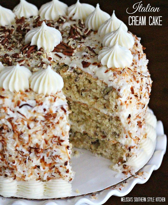 Cake Decoration Cream Recipe : Italian Cream Cake - melissassouthernstylekitchen.com