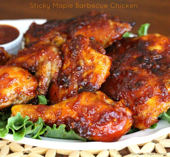 Sticky maple barbecue chicken for What sides go with barbecue chicken
