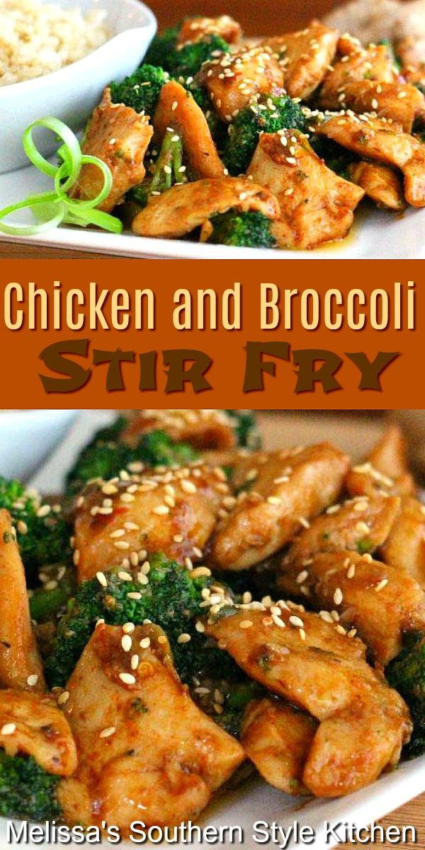 Skip the drive though and make this better than take-out Chicken and Broccoli Stir Fry #stirfry #chickenstirfry #chickenandbroccolistirfry #easychickenrecipes #asianchicken #asianinspired #chickenbreastrecipes #dinner #dinnerideas #southernfood #southernrecipes