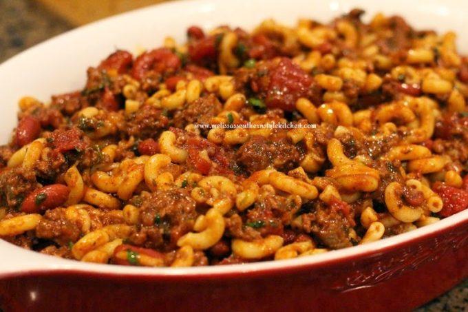 Chili Macaroni - melissassouthernstylekitchen.com
