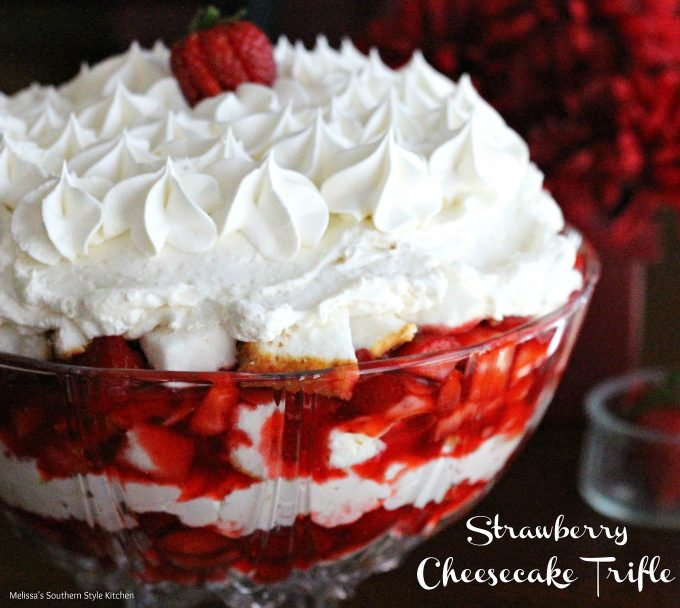 Strawberry Cheesecake Trifle - melissassouthernstylekitchen.com