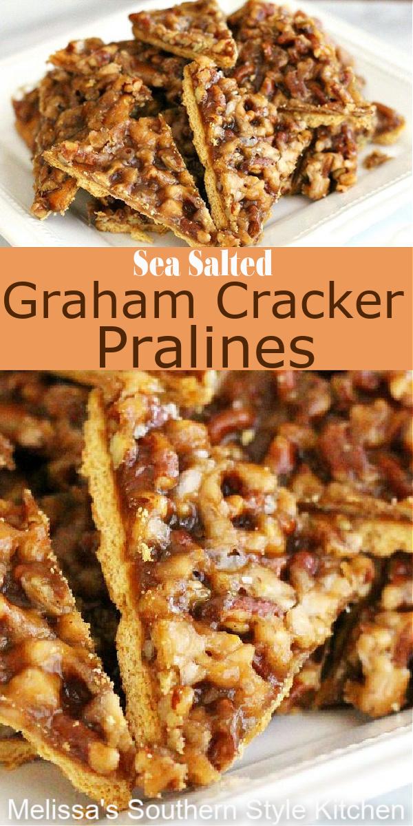 These easy Sea Salted Graham Cracker Pralines are everything #grahamcrackerpralines #pralines #pecanpralines #wsaltedpralines #easyrecipes #grahamcrackers #southernfood #southernrecipes #desserts #dessertfoodrecipes